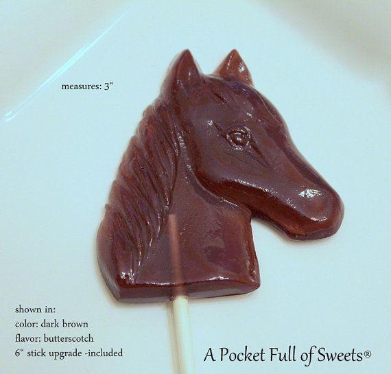 12 HORSE Party Favors Barley Sugar Hard by APocketFullofSweets, $22.99