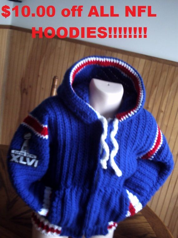 NFL baby to toddler hoodies take ten by inkybinkyproductions, $45.00