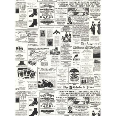 York Wallcoverings, 56 sq. ft. Headline News Wallpaper, KW7620 at The Home Depot - Mobile