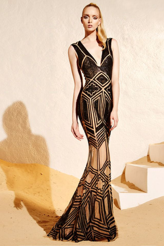 Zuhair Murad Woman Guipure Lace And Printed Crepe Maxi Dress Black Size 44 Zuhair Murad ZEsCjyUF