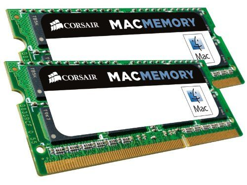 Corsair Apple Certified 8GB (2x4GB)  DDR3 1333 MHz (PC3 10666) Laptop Memory (CMSA8GX3M2A1333C9). Timing: 9-9-9-24 (1333MHz). Capacity: 8GB (2 x 4GB). With hassle-free compatibility and renowned Corsair reliability and support, they're a smart performance investment. Get in touch with us, and we'll help. One of the best ways to improve your Mac's performance Applications use memory, and some of the applications that run best on the Mac — photo and video editing — use lots of it.