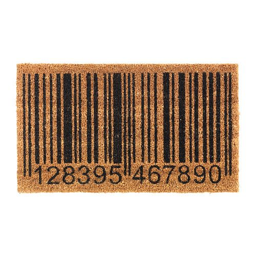 barcode door mat, Ikea