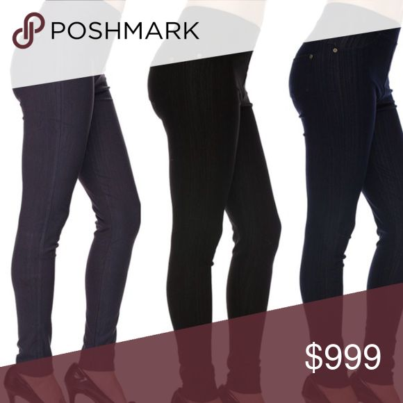 🎉HP🎉 5 🌟RATED!! {Plus} XL-2X jeggings Plus sized jeggings! These are amazing ladies! The fit is awesome and SO slimming. These have a REAL back pocket which is great for convenience & style! There are 3 colors. Black, Blue and navy. I sent to a customer for try on and she raved about them! Get yours today, limited quantities. They come in 1X-2X (IMO fits 12-16) and 2X-3X (IMO fits 16-20). I'll try and get some additional pics up! Pants Leggings