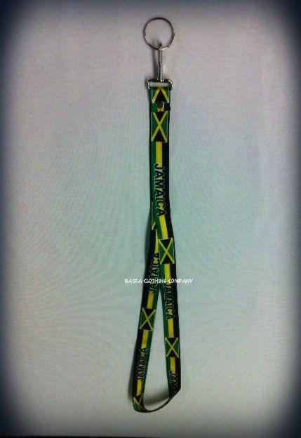 Jamaica Flag - Lanyard : Flag Keychain - Rasta Clothing Company