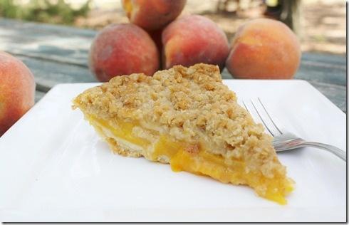 peach crumble pie