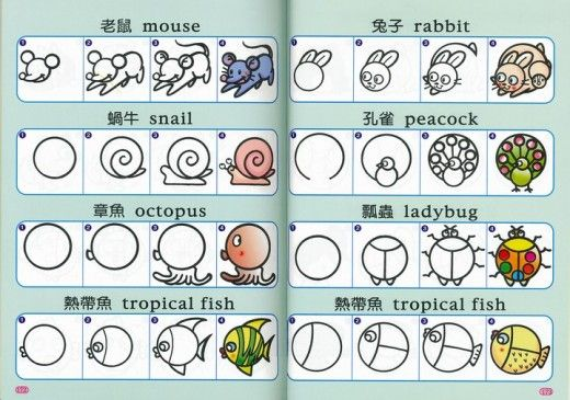 Steps for drawing cute animals on rocks http://sundaymorning.hubpages.com/hub/Daddy-can-draw-Part-1