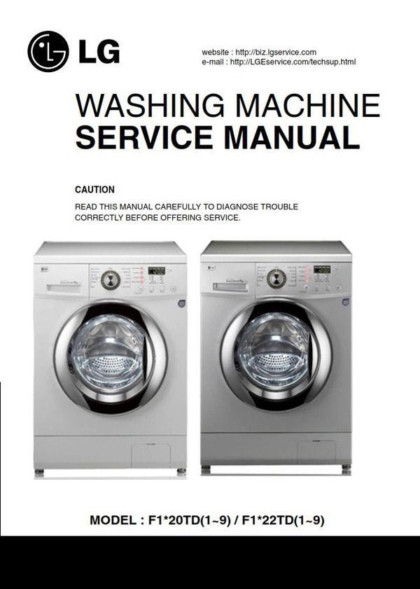Pin On Lg Washer Washing Machine Service Manuals