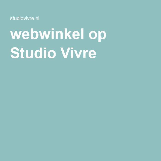 webwinkel op Studio Vivre