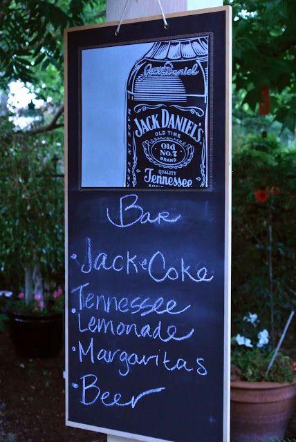 Birdie shoots: Jack Daniels Inspired Party Invitations & Decor
