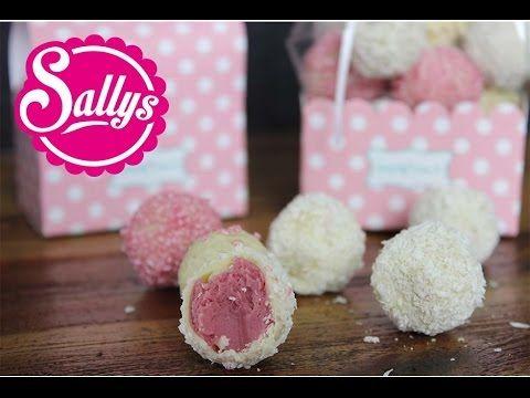 Sallys Blog - weiße Pralinen mit Himbeer-Trüffel-Füllung