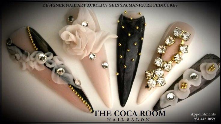 #thecocaroom, acrylic nails, 3D nail art,