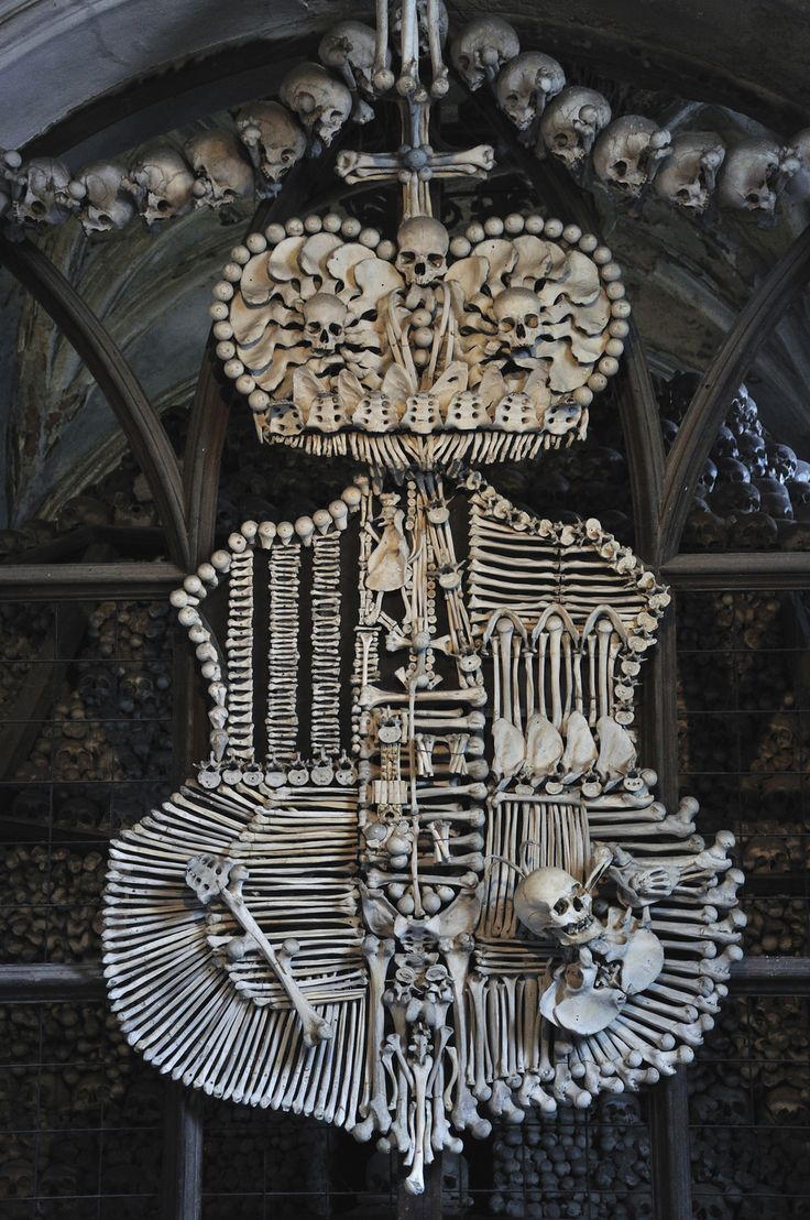 Sedlec Ossuary, a church that is built from the bones of between 40,000 and 70,000 people who died hundreds of years ago. | 27 Pictures That Prove The Czech Republic Will Be The Most Beautiful Place You Ever Visit