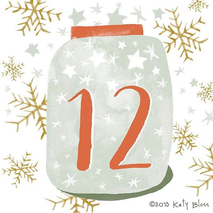 «A jar full of stars on day 12 of illustrated advent, let's make a Christmas wish.»