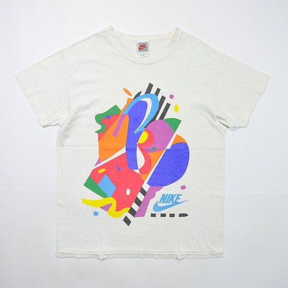Rare Vintage 90s Nike Abstract Jazz Art Graffiti T Shirt 90s Tees Streetwear Shirt Old School Retro Stree Retro Tshirt Vintage Tshirts Retro Fashion 90s