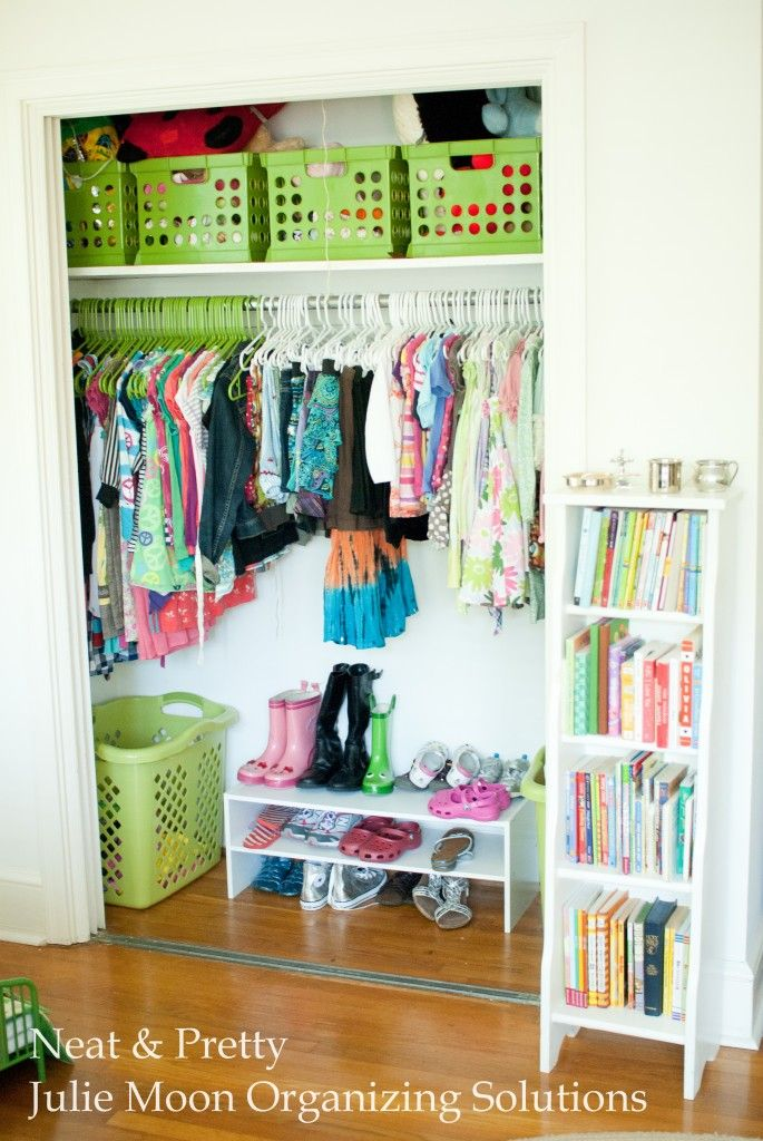 make good use of the storage space above your clothing and on the floors
