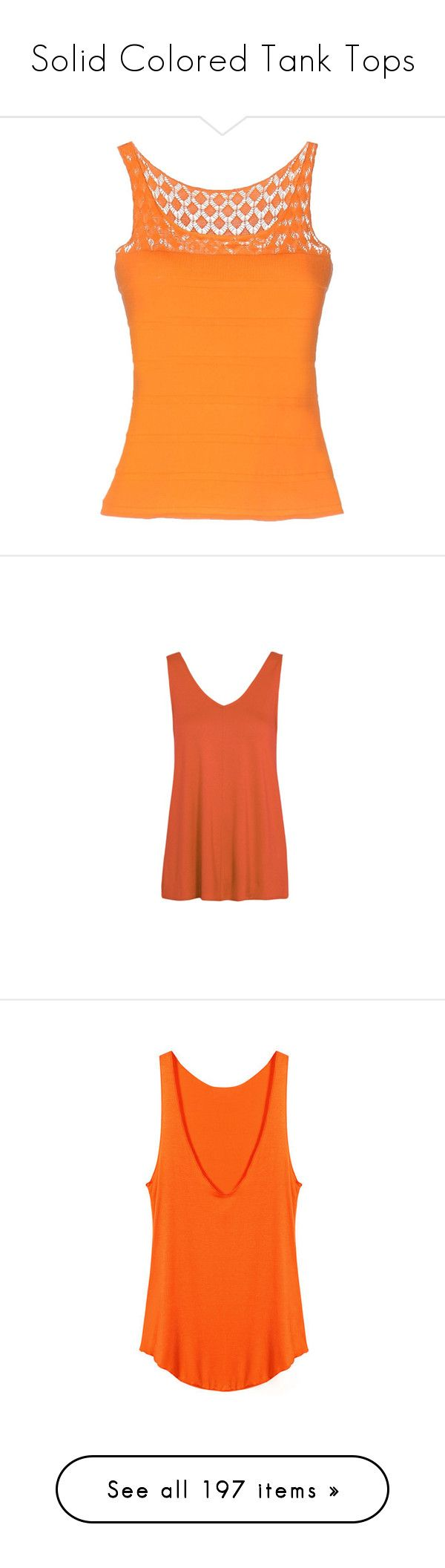"""""""Solid Colored Tank Tops"""" by labuck88 ❤ liked on Polyvore featuring outerwear, vests, orange, sleeveless vest, lightweight vest, vest waistcoat, sleeveless waistcoat, orange vest, tops and sleeveless tank"""