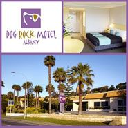 Dog Rock Motel Albany  Family owned with friendly service situated right in the heart of the city - Your home away from home! Situated 400 metres from Albany's main street in the heart of the city. Complimented by Lime 303, winner of the 2009 Gold Plate Award, a fully licensed restaurant with superb ambiance. 80 freshly renovated Standard, Deluxe & Executive Rooms offer 5 levels of accommodation.