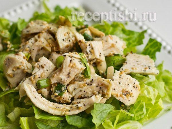 Салат из курицы с ореховым вкусом