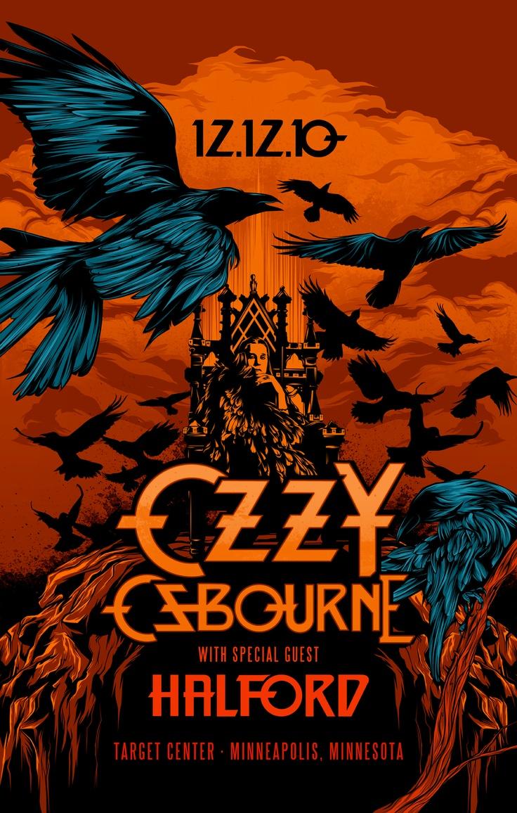 Ozzy Osbourne with Rob Halford