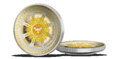 Skvost európskej architektúry na konkávnej minci z 3 oz rýdzeho striebra