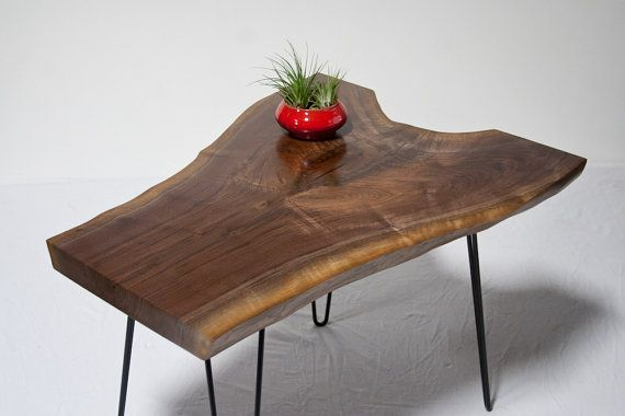 Black Walnut END Table | Side Table - Live Edge - Natural ...