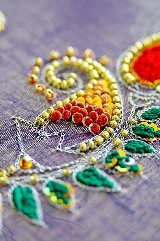 ♥Could certainly work on needlepoint canvas.