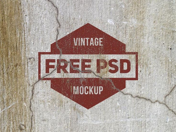 Free mockup of grunge logo texture free. This is