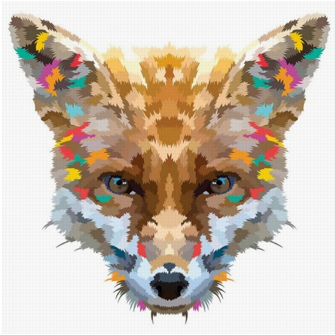 Colorful Animal Prints by Chicken Billy via Uncovet (sign-up site) >> Love this print!