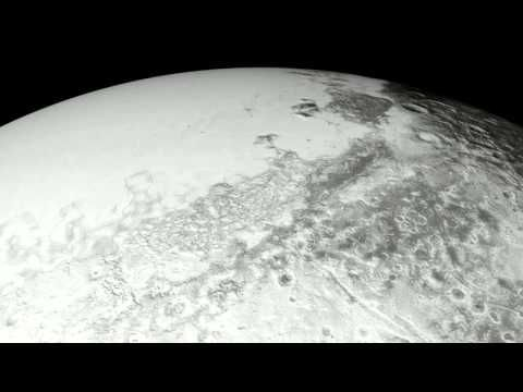 Take an Astounding Aerial Flyover Tour Soaring Above Pluto's Wondrous Heart, Icy Flow Plains and Majestic Mountains