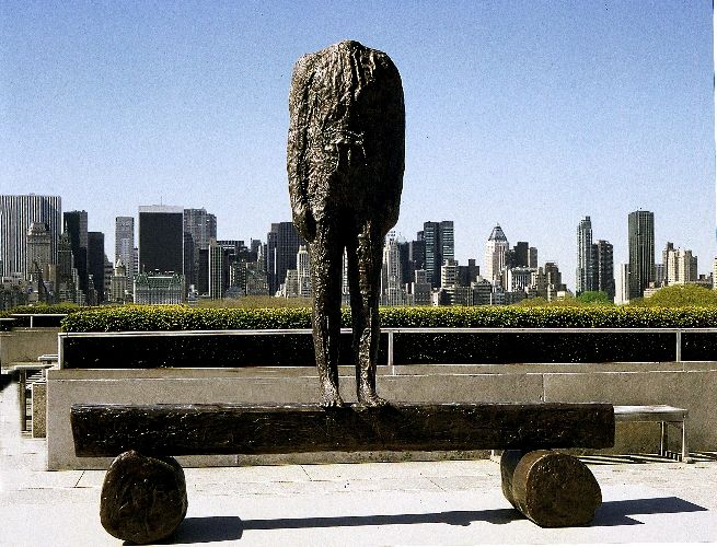 Magdalena Abakanowicz - - Figure on Beam Metrop. NY.