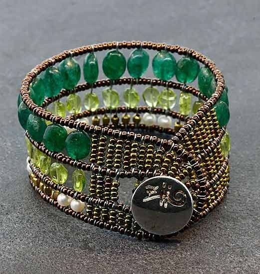 Bracelet for Women, Green, Silver, 2017, One Size Ziio Jewellery