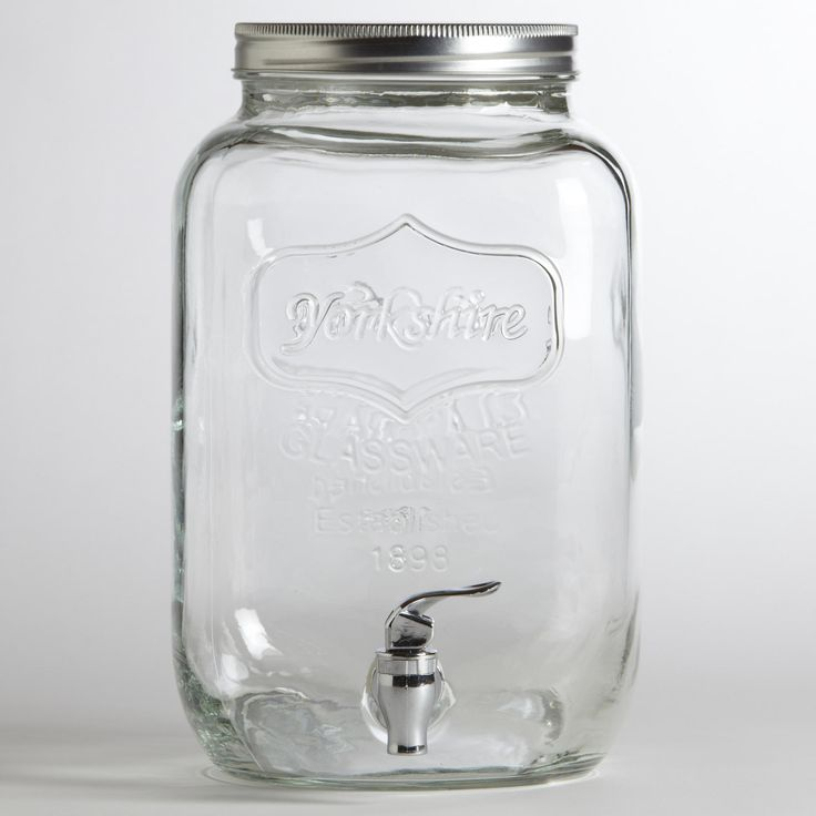 cheapest mason jar dispensers I've found:  Glass Yorkshire Dispenser | World Market