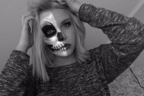 Image via We Heart It https://weheartit.com/entry/143660235 #Halloween #skull #youtube #dagibee