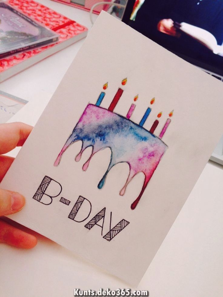 Most Up To Date Photos Birthday Presents Drawing Thoughts Looking For The Best Unique Gift In 2021 Watercolor Birthday Cards Cool Birthday Cards Birthday Card Drawing