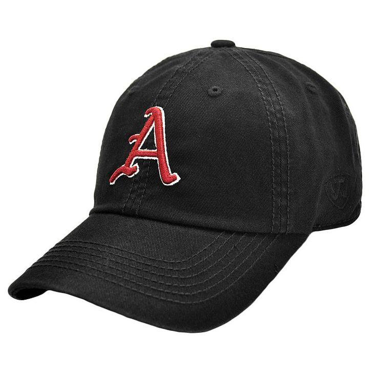 Adult Top Of The World Arkansas Razorbacks Crew Baseball Cap, Black