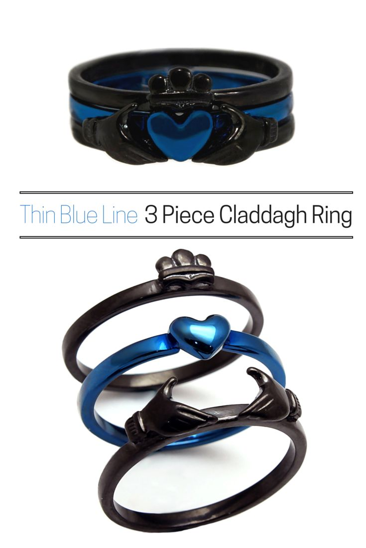 The Most Versatile Claddagh Ring! Can Be Worn All Together Or In Any Bination Of