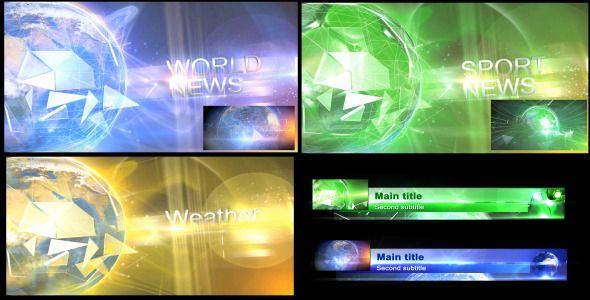 Broadcast TV News Pack