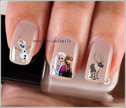 Trolls Movie Nail Art: Nail Art Nail Water Decals/ Transfers/ Nail Wraps Frozen