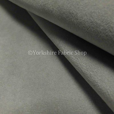 New Designer Silver Grey Moleskin Velvet Soft Texture Upholstery Curtain Fabrics