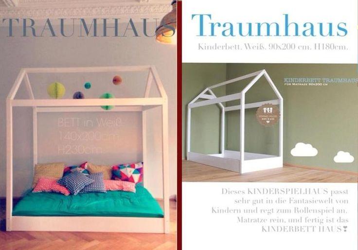 traumhaus big bett 140 x 200 cm von m rchen von der lichtfarbe weiss auf mein. Black Bedroom Furniture Sets. Home Design Ideas