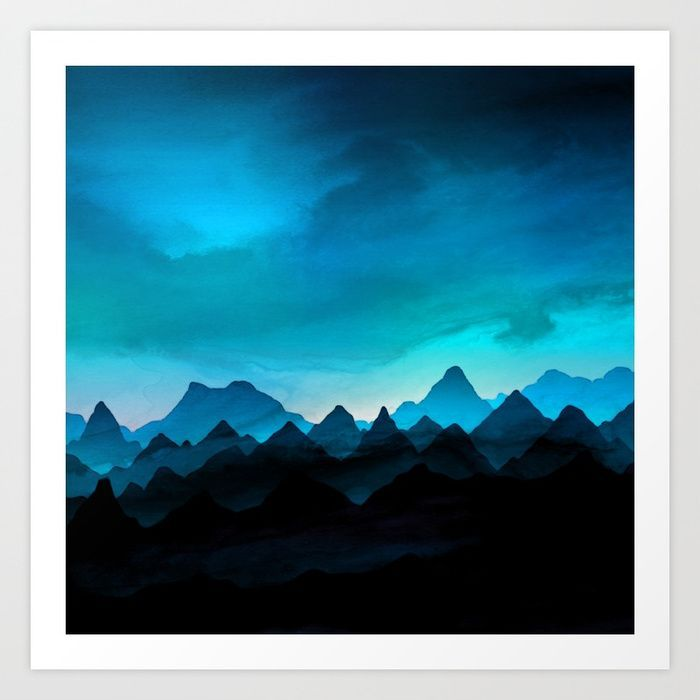 Hot Air Balloon Misty Mountain Landscape Wall Art Large Poster /& Canvas Pictures