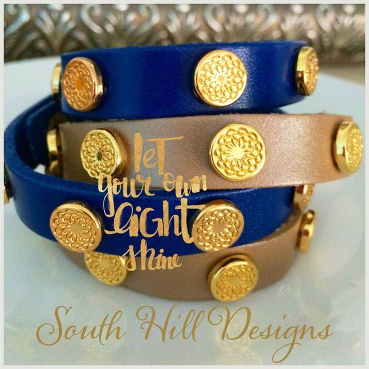 Stunning leather wrap bracelets. Shop at www.southhilldesigns.com/chelseadewald