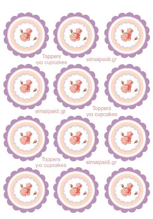 Γιρλάντα με αυγά και mini toppers για τα cupcakes σας-Πασχαλινή διακόσμηση