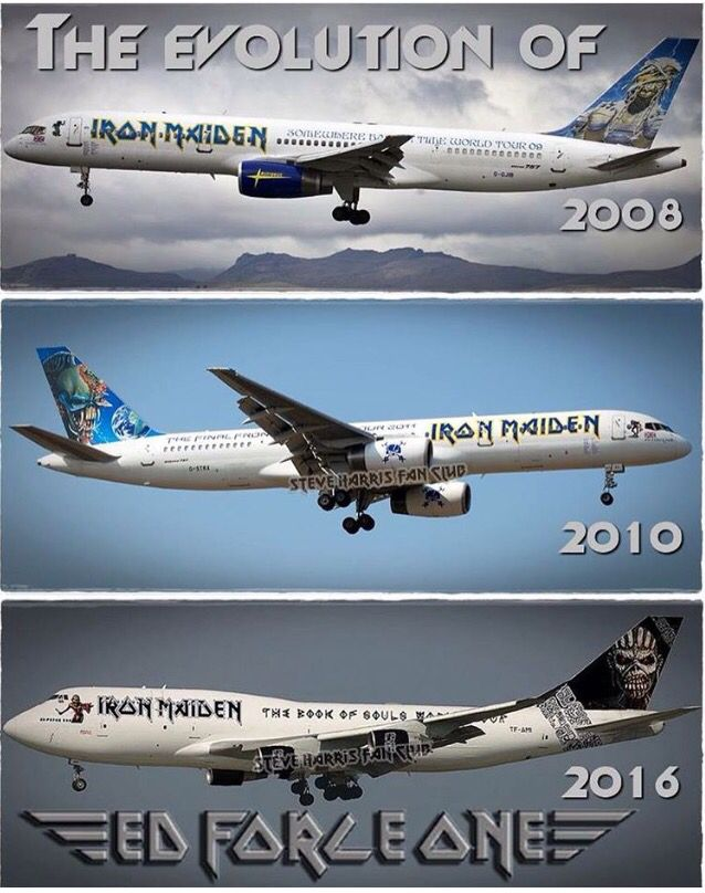 The Evolution of Ed Force One - Iron Maiden