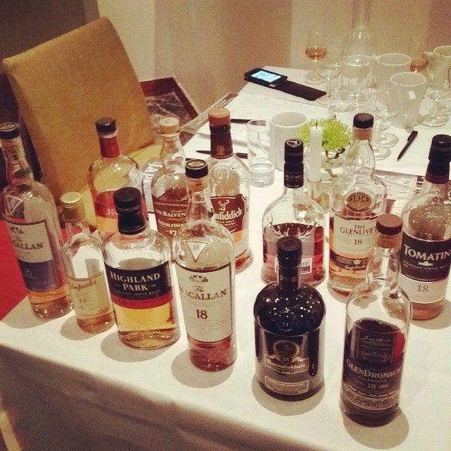 The 17/18yo blind lineup. Macallan18 Sherry was my favourite, followed by…