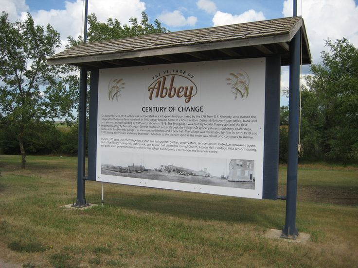 For the Village of Abbey, Sask.