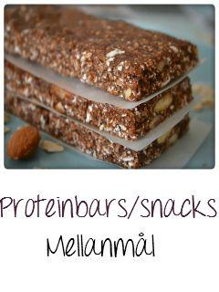 Tasty Health: Proteinbars/snacks mellanmål