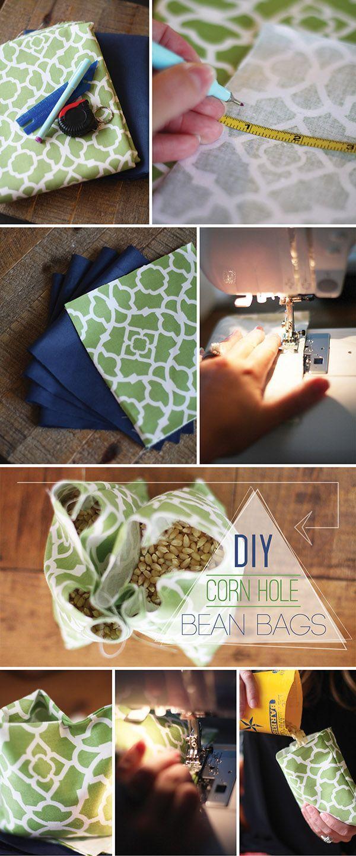 DIY Corn Hole Bean Bags - Full tutorial on The Blissful Bee