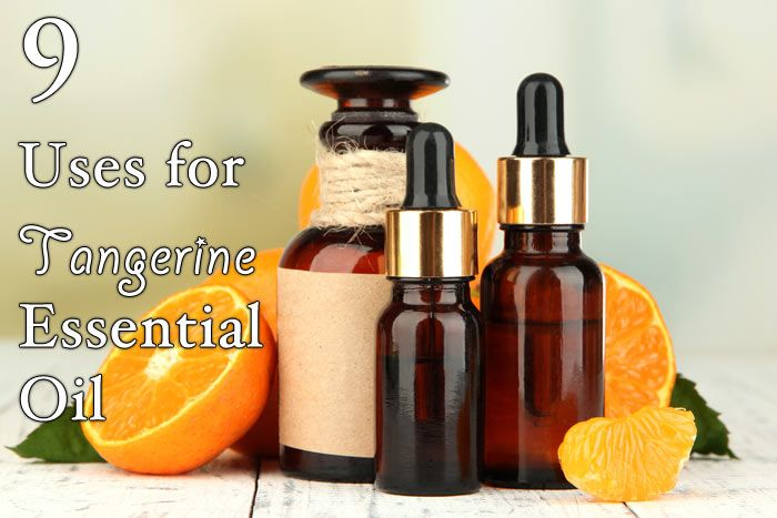 9 Uses for Tangerine Essential Oil. This citrus based oil has many health uses and can even help cleaning the house. Find out the best ways to use.
