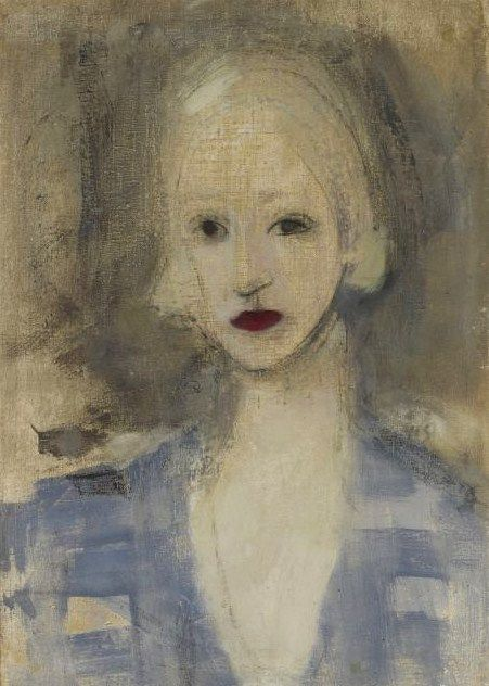 Helene Schjerfbeck (Finish 1862–1946) [Realism, Impressionism, Expressionism, Romanticism] Blond Woman, 1925.